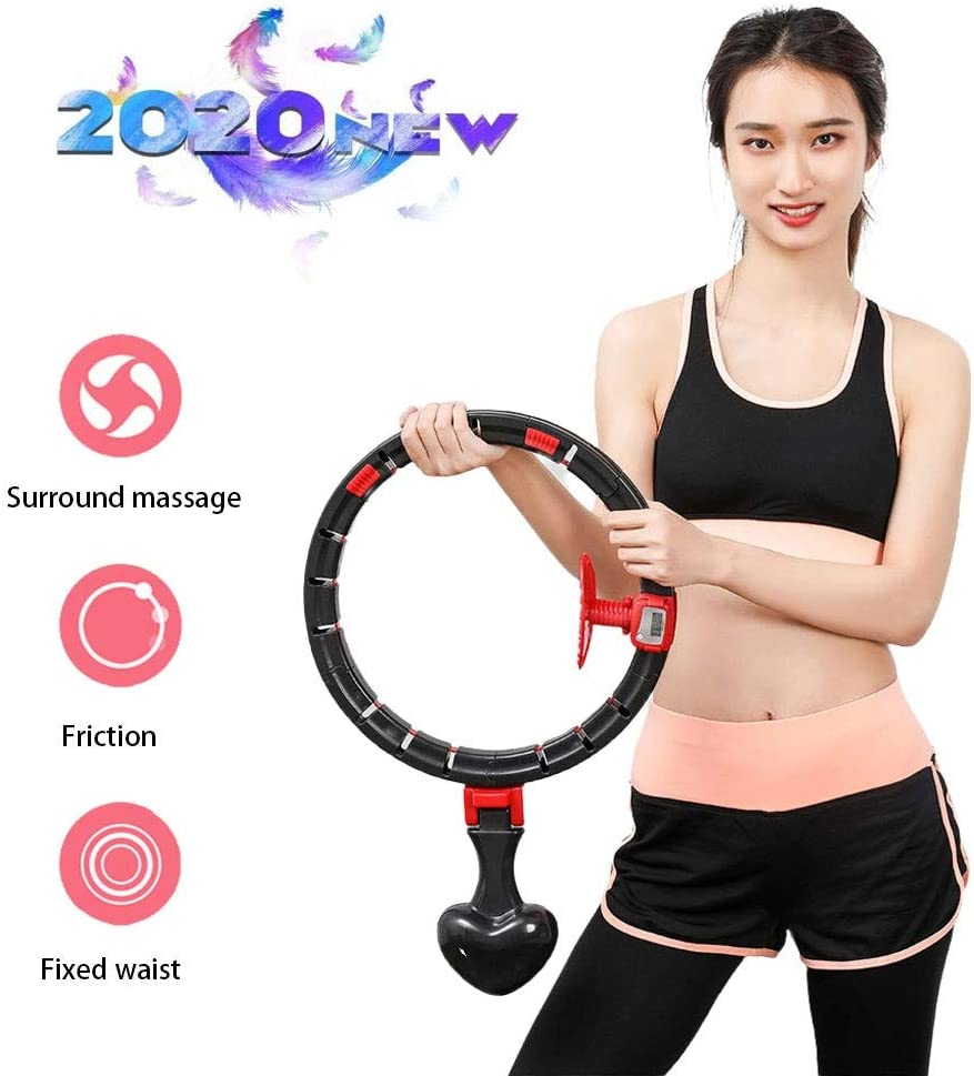 Smart Hula Hoops,Auto-Spinning Hoop,Exercise Fitness Hula Hoops Workout,Hot Waist Weight Loss with LCD Intelligent Counting