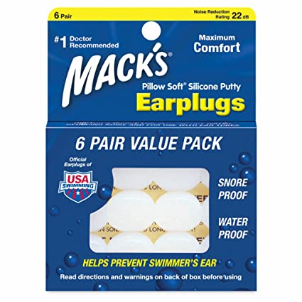 Macks Value Pack Pillow Soft Moldable Silicone Putty Earplugs 6 Pairs (2 PKs (12 Pairs))