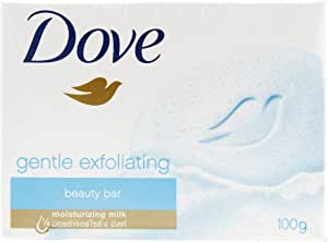 Dove Gentle Exfoliating Beauty Bar Soap, 100 g (Pack of 3)