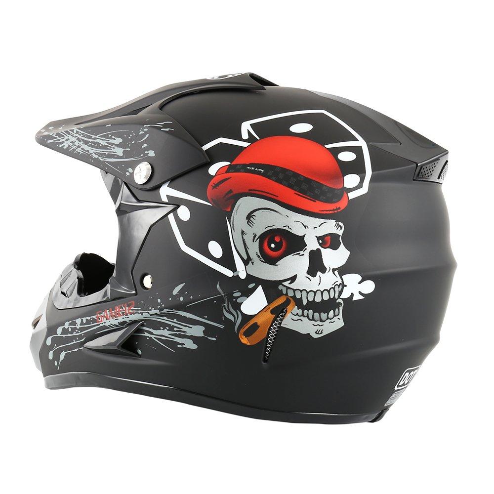passamontagna e occhiali motocross enduro Casco da moto 58-59 cm cross offroad con guanti sport