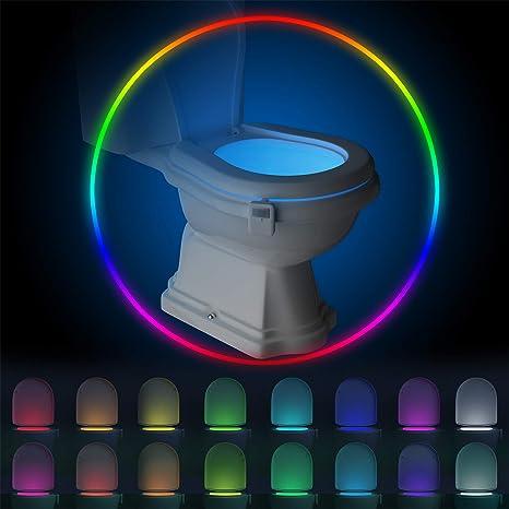 New Digital 8 Color Tiolet Bowl Night Lightfree shipping