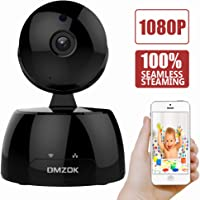 DMZOK Wireless WiFi Camera, ProHD 1080P Home Security Camera, Nanny Camera, WiFi IP Camera, Pan Tilt Zoom Night Vision Two Way Audio Motion Detection, Remote Monitoring on Mobile App (1080P)