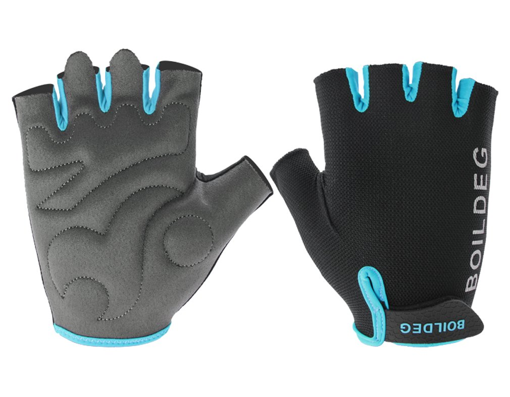 ub-boodun指手袋滑り止めシリカゲルグリップスポーツグローブサイクリングフィットネスジムワークアウト B07DTKLQNL  スカイブルー Large