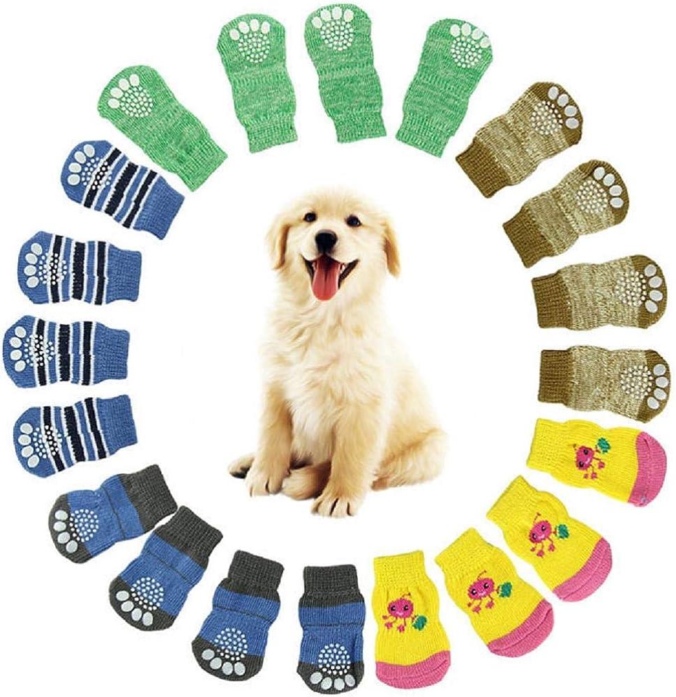 Islandsea - Calcetines Antideslizantes para Perros y Mascotas, 2 ...