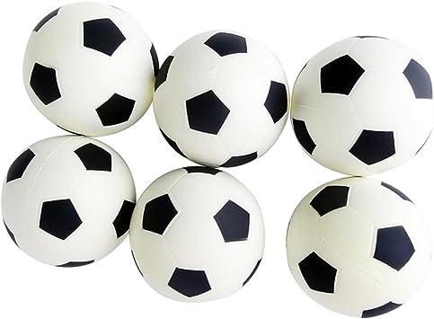 Gespout - Juego de 6 pelotas de fútbol para niños y bebés, tamaño ...