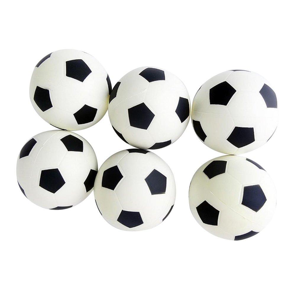 Leisial/™ 6pcs Juguete para Ni/ños Mini F/útbol Espuma Mesa Futbol/ín Juego Deportes Estr/és Exprimir de las Bolas Juego Deportes Educativo Juguete de los Ni/ños