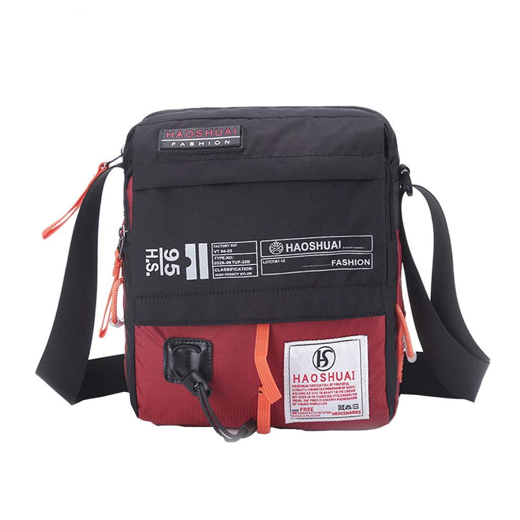 Altsommer Brieftasche HAOSHUAI New Herren Diagonal Cross Bag Schultertasche Sport und Freizeit Tasche Geldb/örse Schultasche Schulranzen