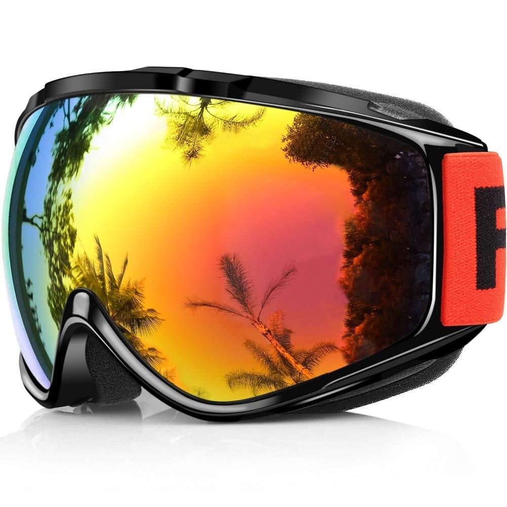 Gafas de Esquí,Findyway Máscara Gafas Esqui Snowboard Nieve Espejo para Hombre Mujer Adultos Juventud Jóvenes OTG Compatible con Casco,Anti Niebla 100% Protección UV Gafas de Ventisca product image