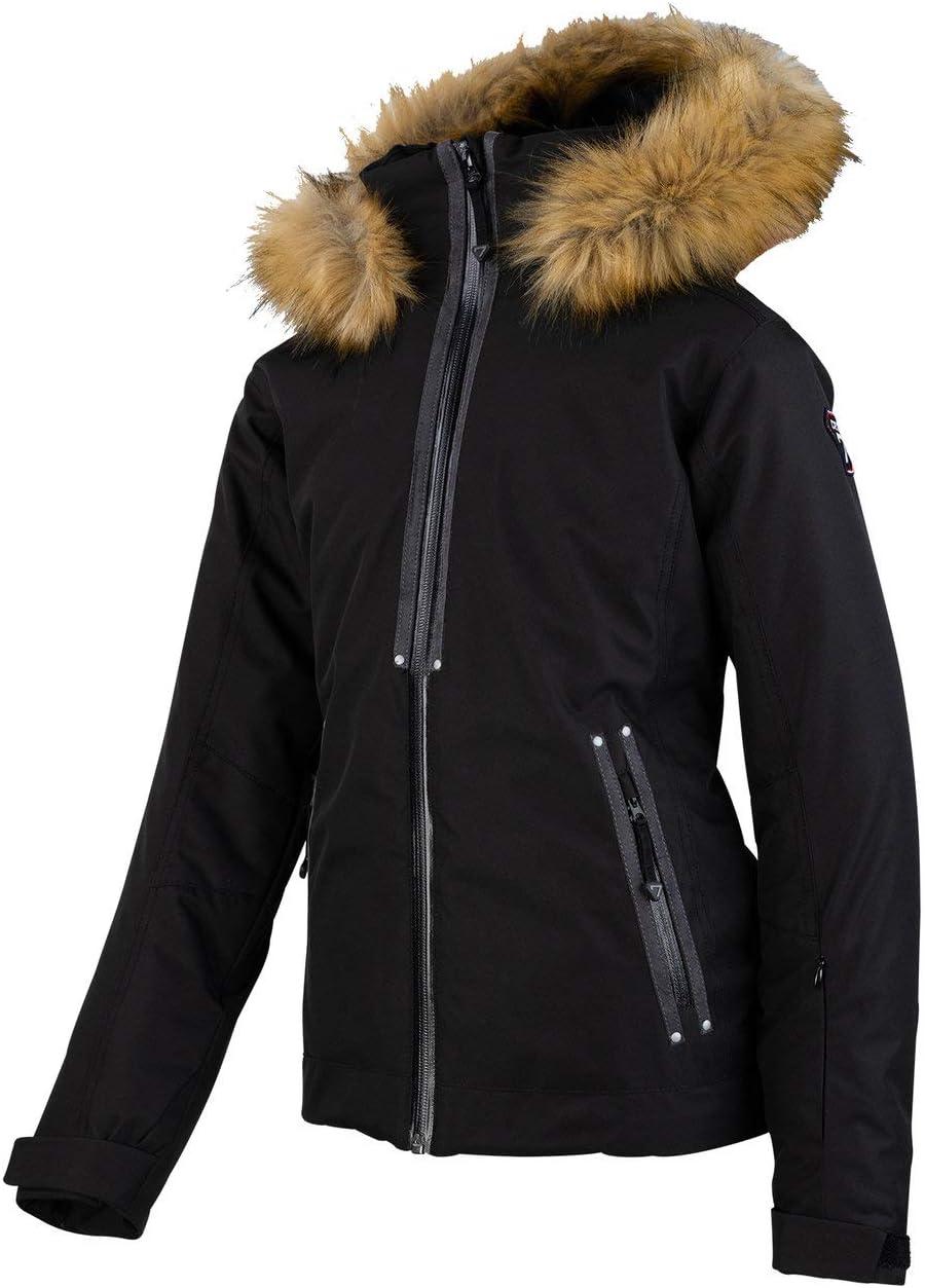 Veste de Ski Technique pour Ado DEGRE 7 pour Rideuses et Skieuses Veste de Ski Geod pour Fille Respirante et Chaude Coupe Ajust/ée Capuche Amovible