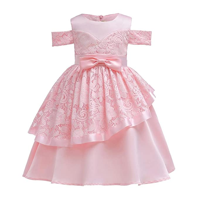 1904c83949596 Amazon.com: Moonker Girls Princess Dress 2-7 Years Old, Kid Baby ...