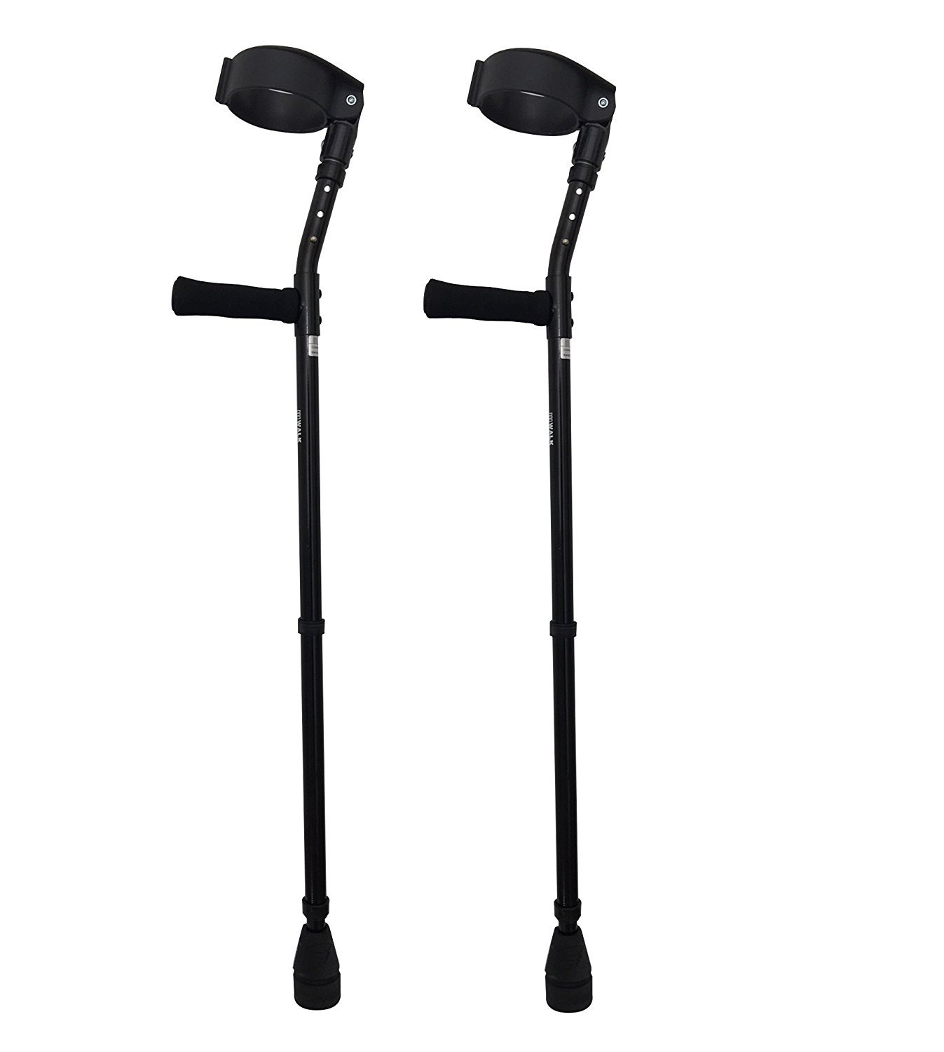 Thomas Fetterman Walk Easy 490 4'' Cuff Adjustable Forearm Crutches with Choice of Tips (Adjustable with Tornado Gel Tip)