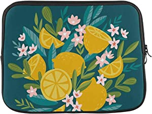 INTERESTPRINT Laptop Sleeve Bag Blooming Citrus Tree Lemons and Flowers Notebook Computer Carrying Case Cover 13 Inch 13.3 Inch
