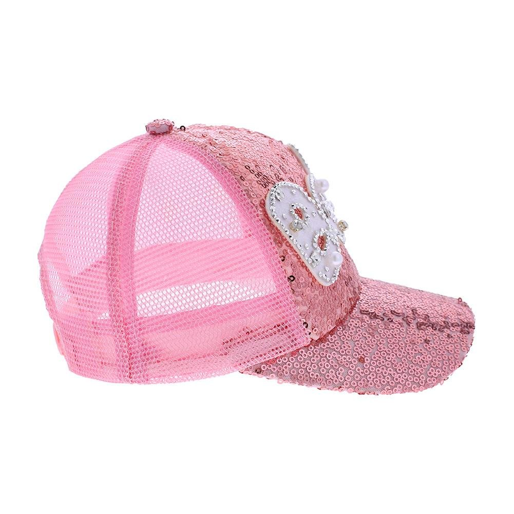 6aa11cf017b7fa amazingdeal Casual Kids Sun Hat Summer Baseball Letters Sequined Boys Girls  Cap(Pink): Amazon.in: Clothing & Accessories