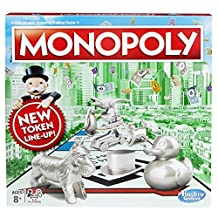 Hasbro Gaming Monopoly Classic Game With New Tokens Duck,Dinosaur & Cat