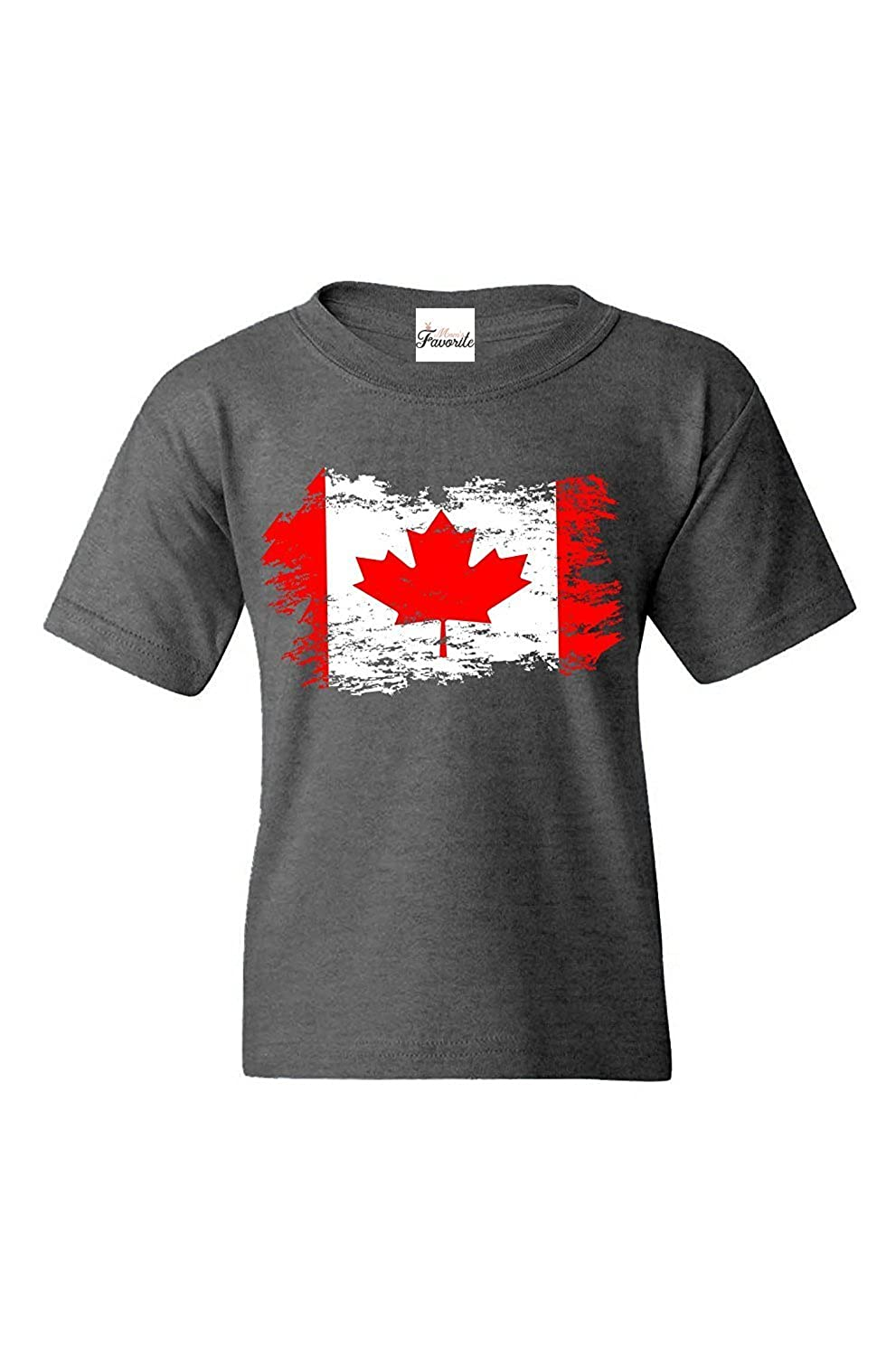 Mom's Favorite Canadian Flag Youth's T-Shirt Canada Shirts