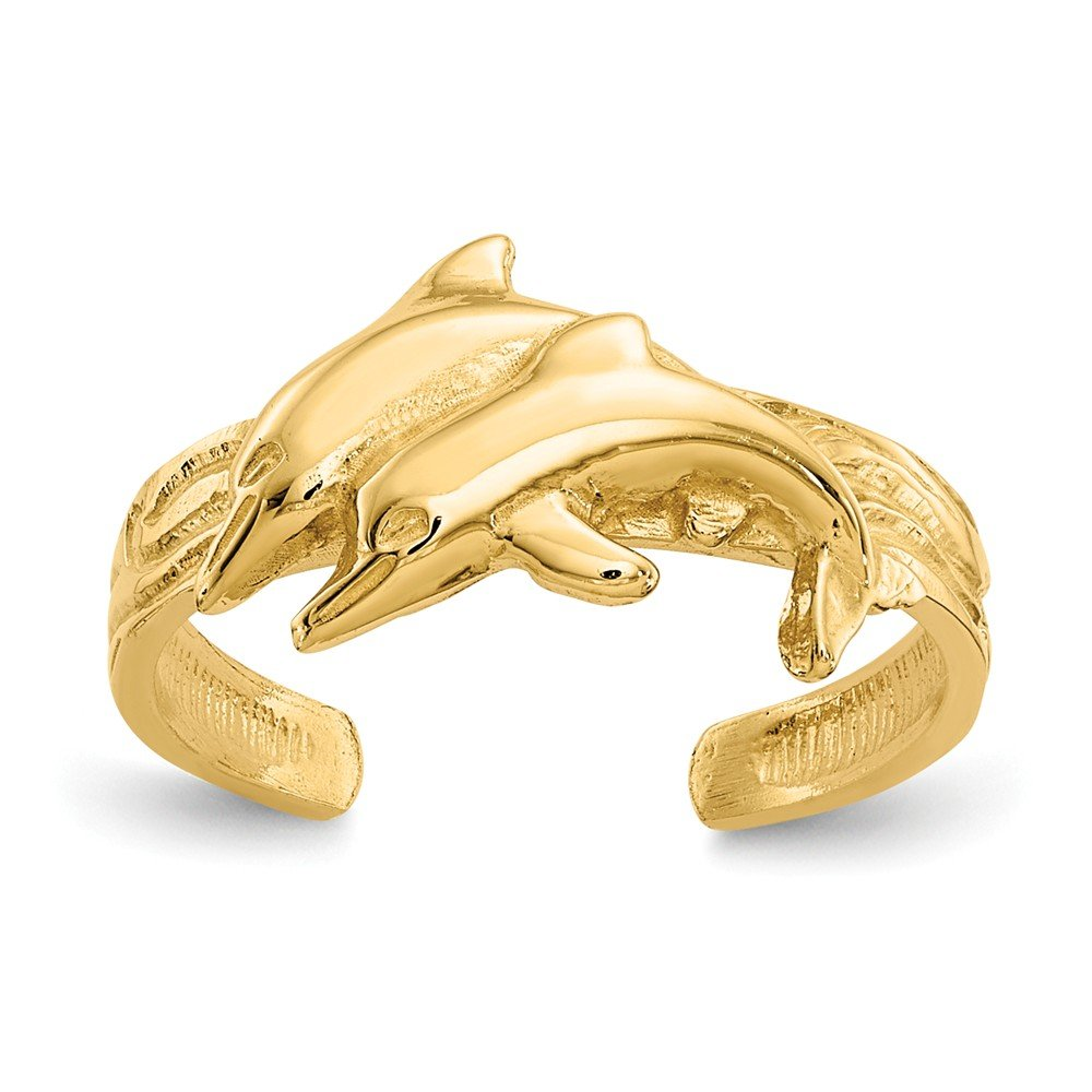 Roy Rose Jewelry 14K Yellow Gold Dolphin Toe Ring