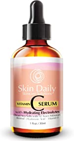 Antioxidant Vitamin C Serum for Face- Infused with Electrolytes, Hyaluronic Acid,