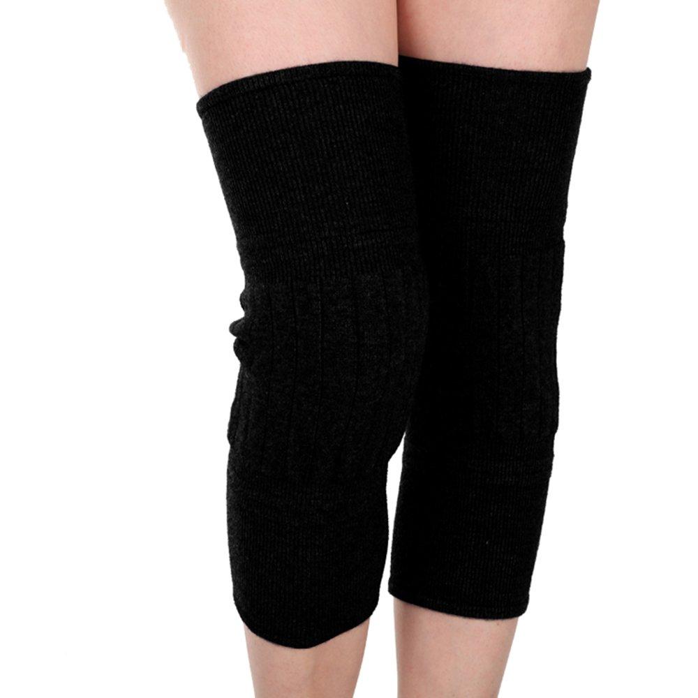 LJHA Rodilleras gruesas almohadillas de rodilla otoño e invierno gruesas rodilleras masculinas y femeninas rodilleras frías (3 colores opcionales) (tamaño ...
