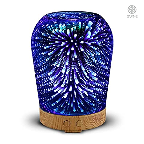 SUN-E Essential Oil Diffuser Ultrasonic Cool Mist Aromatherapy Humidifier With