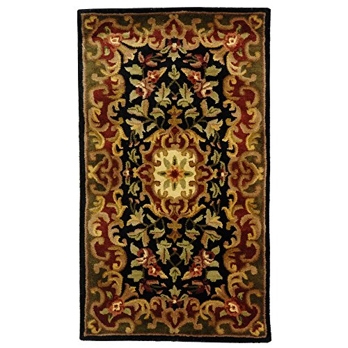 (Safavieh Classic Collection CL234D Handmade Traditional Oriental Black and Green Wool Area Rug (2'3