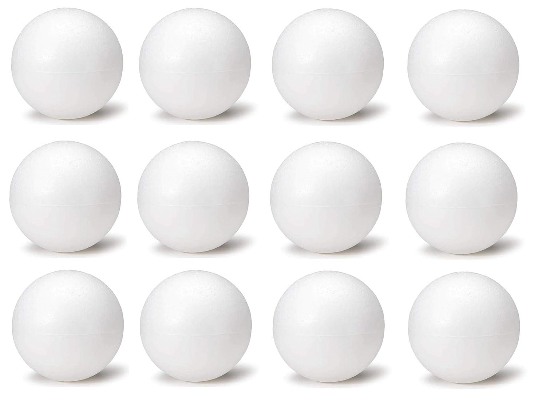 6 6 Inch White Foam Craft Balls for Art /& Crafts Projects Foam Polystyrene Balls