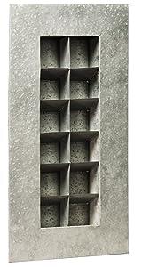 Evergreen Aged Zinc 12 Pocket Metal Wall Planter