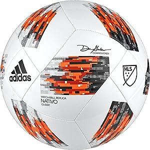 adidas MLS Glider Soccer Ball, White/Orange, Size 5