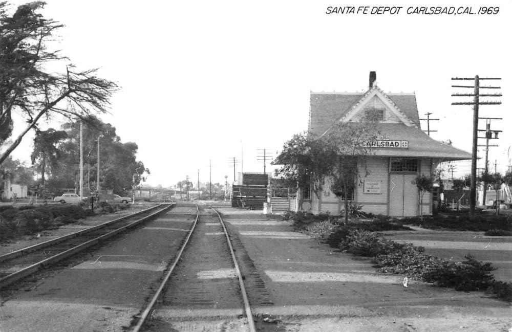 Carlsbad California Santa Fe Depot Real Photo Vintage Postcard K103384 At Amazon S Entertainment Collectibles Store