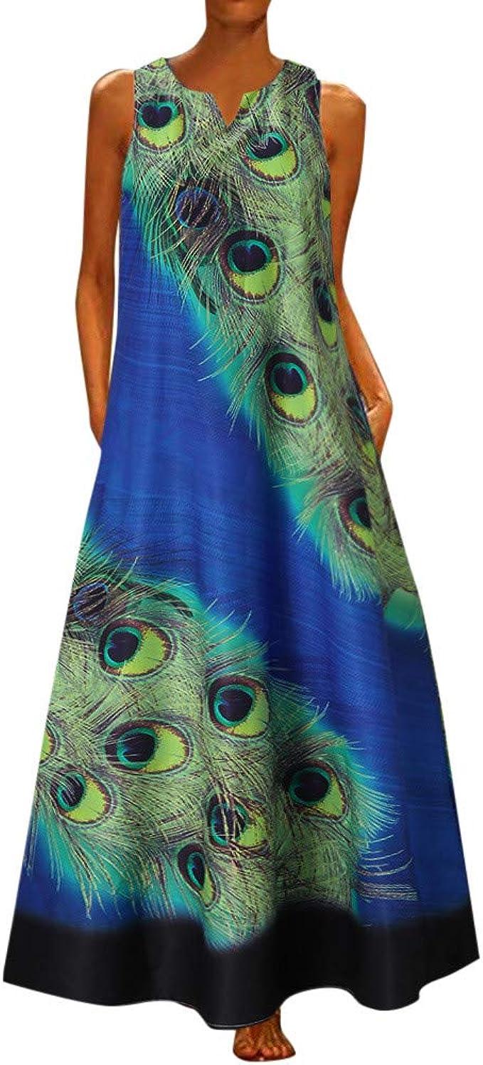 Travel Dress Summer Dress Womans Casual Dress Dress For Women Womens Summer Loose Fitting Abstract Pattern Robe Dress Long Dress