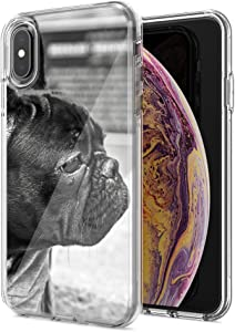 for Apple iPhone XR French Bulldog Design Double Layer Phone Case Cover