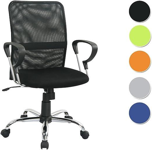 SixBros Bürostuhl Chefsessel Drehstuhl Schreibtischstuhl Schwarz H-8078F-2//1322