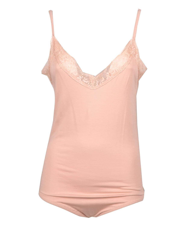 Twenty Easy By Kaos Women's MA0140PINK Pink Cotton Bodysuit