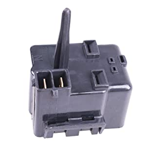 Bestparts NEW replacement Refrigerator Compressor Relay Overload Starter for General Electric GE Refrigerator 513604045 WR07X10097