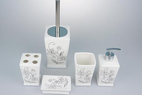 Scopini Da Bagno Ceramica : Sbwylt porta scopino wc in ceramica di rame antico pennello set