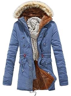 BOLAWOO Herren Damen Jacke Coat Winddicht Parka Mantel Winterjacke  Fellkapuze Herrenjacke Mode Marken Kapuze Pilotenjacke Pelzkragen 6010a53c91