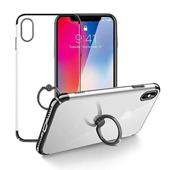 official photos db64a dd947 Xundd iPhone X Ring Stand Case, Crystal Case with Ring Holder Kickstand  Function, 360 Degree Rotating Ring Holder Grip Case Ultra Slim Thin Hard  Cover ...