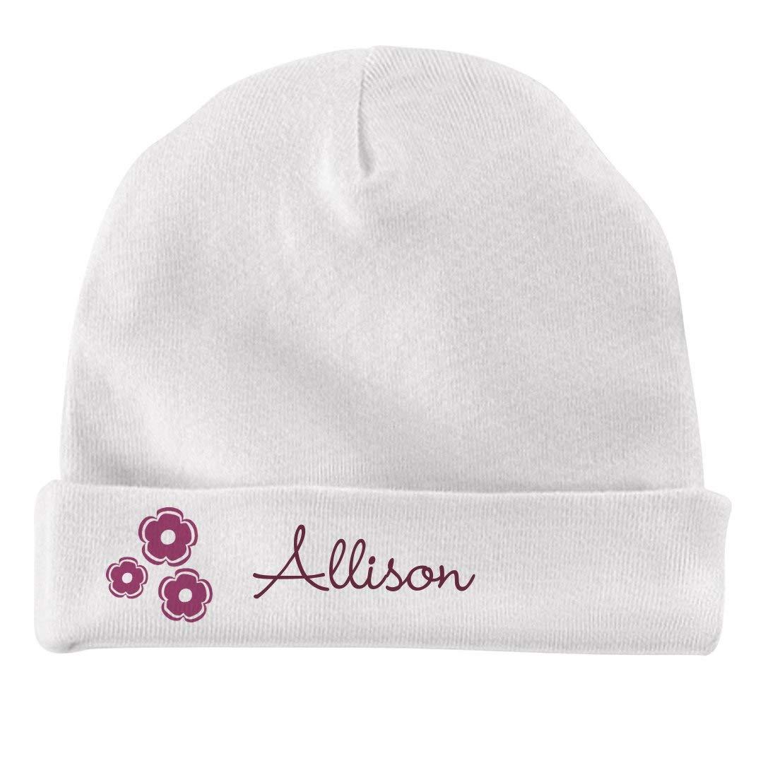Infant Baby Hat FUNNYSHIRTS.ORG Baby Girl Allison Flower Hat