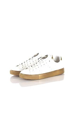 hot sale online 16e73 5e2ab Amazon.com | COLMAR Sneakers Donna 38 Bianco/oro D-Bradbury ...