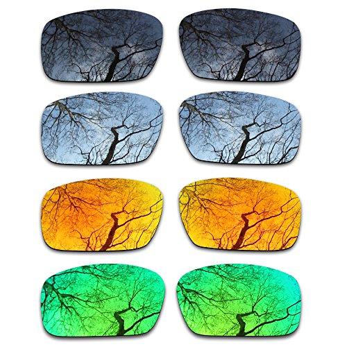 (ToughAsNails Set of 4 Polarized Replacement Lenses for Oakley Crankshaft Pack-BSFE2)