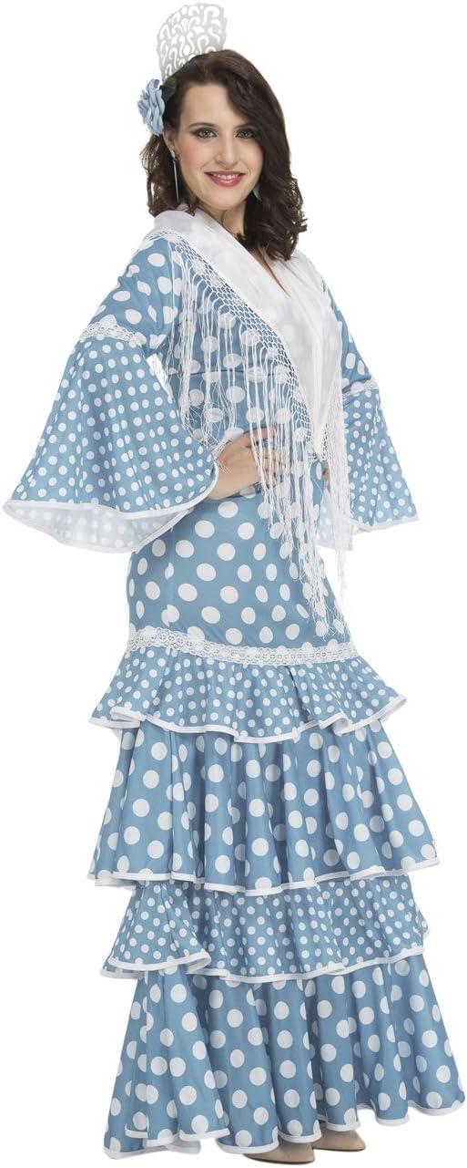 My Other Me Me-202951 Disfraz de flamenca Huelva para mujer, color turquesa, S (Viving Costumes 202951)