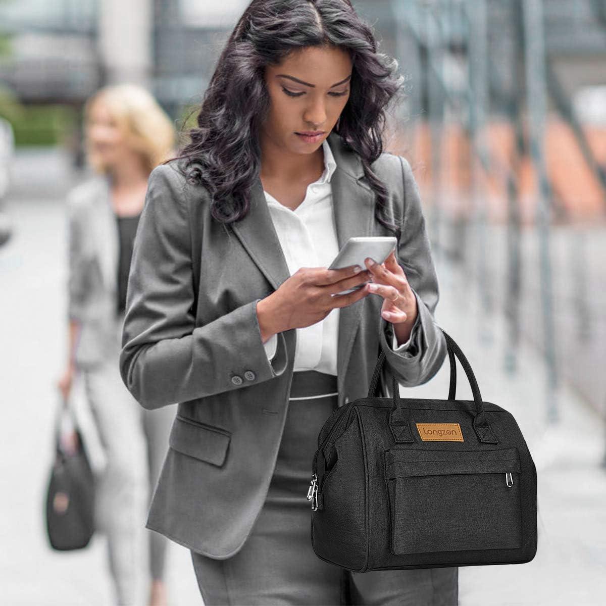 Mantener Calientes//Fr/ías - Gris Bolsa Termica Porta Alimentos 15L para Llevar Comida Longzon Bolsa Termica Almuerzo para Mujer Hombre Ni/ños Trabajo Viaje Escuela Oficina Playa