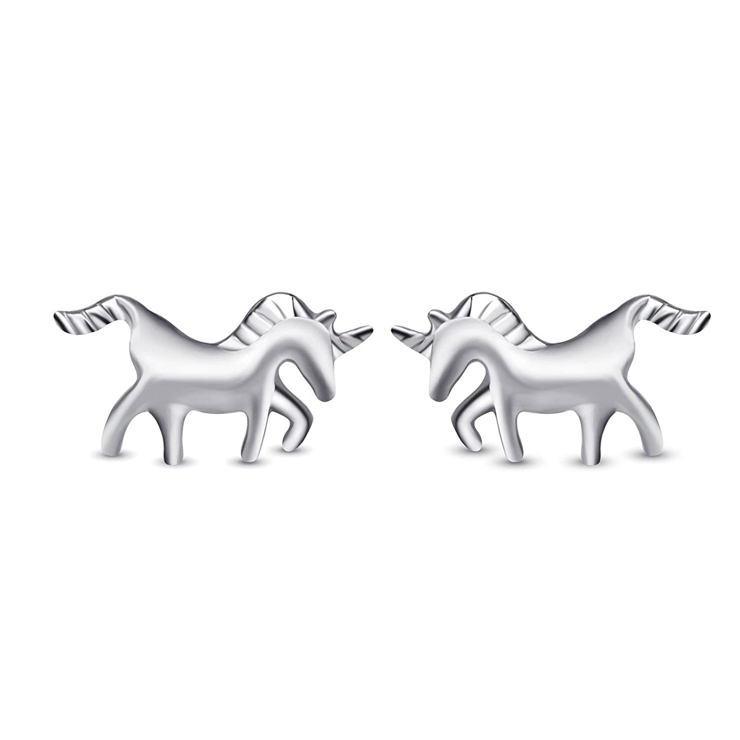 1 pair Fashion Jewelry 925 Sterling Silver Tiny Pony Horse Studs Earrings Female Gifts