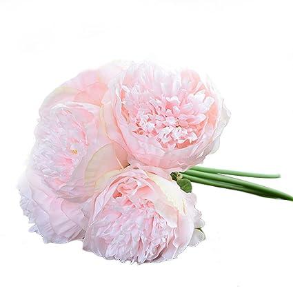 Lianle Bouquet Fleur Artificiel Pivoine Fleur Deco Mariage Maison