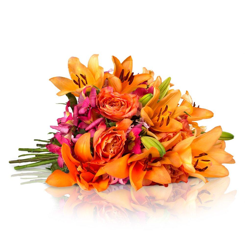 Blumenstrauß Orange Dream   Versandkostenfrei   Europameister-Design   Gratis-Grußkarte & Geschenkverpackung
