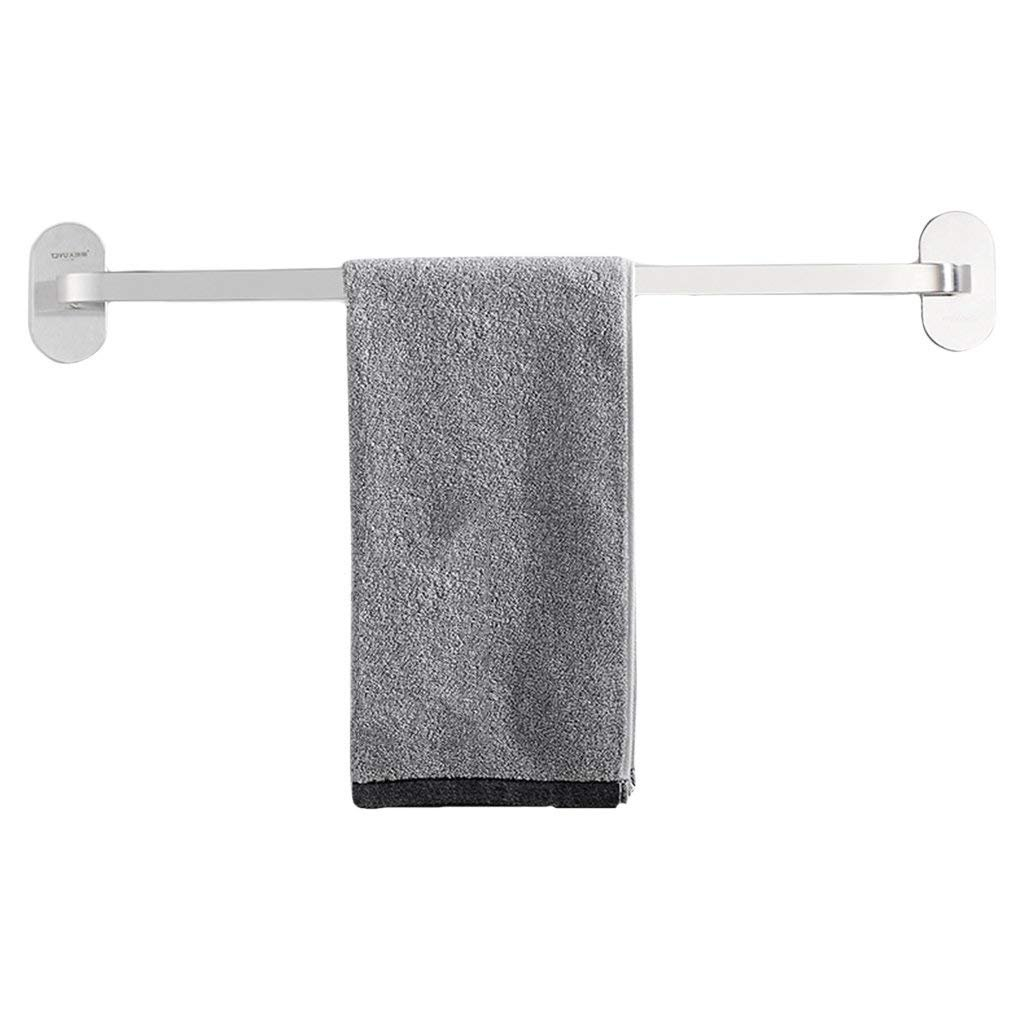 EQEQ Free Towel Rails, Bathroom Towel Holder Stainless Steel Stamping Single Shot 35 cm and 45 cm to The Wall Assemblies in Stainless Steel (Size: 35 cm). best