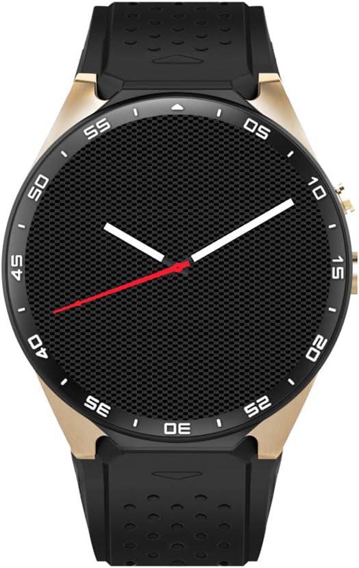QL Bluetooth Sport Watch Smart Watch Phone KW88 Touch Screen Fitness Tracker con Tarjeta SIM y Ranura para Tarjeta TF con GPS, cámara, Monitor de Ritmo cardíaco, Mapa de Google para iOS y Android