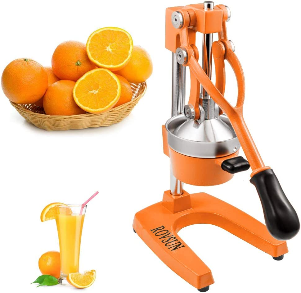 ROVSUN Commercial Grade Citrus Juicer Hand Press Manual Fruit Juicer Juice Squeezer Citrus Orange Lemon Pomegranate (Orange)