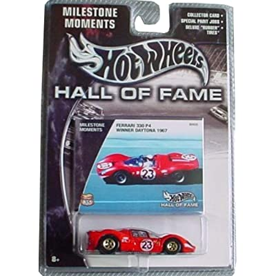 Hot Wheels Hall of Fame Milestone Moments Ferrari 330 P4 Winner Daytona 1967 RED 1:64 Scale Collectible Die Cast Car: Toys & Games