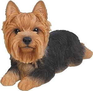 Hi-Line Gift Ltd Yorkshire Terrier Dog Lying Down Statue