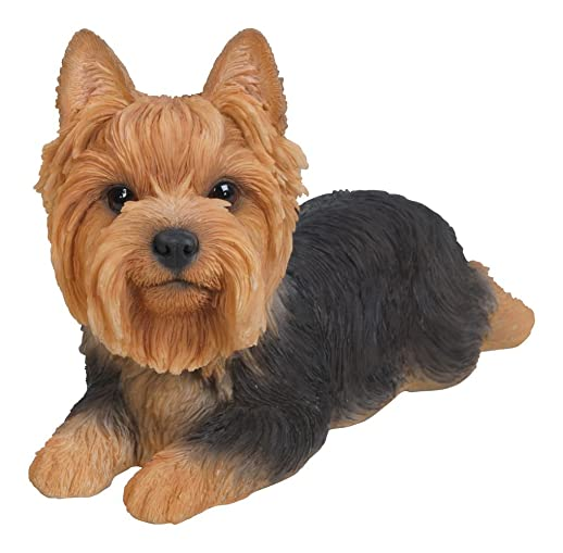Hi-Line Gift Ltd Yorkshire Terrier Dog Lying Down Statue